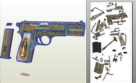 Papercraft Guns - papercraft 9mm pistol update