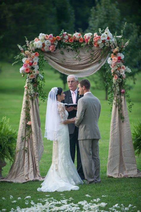 The 25  best Wedding arch flowers ideas on Pinterest