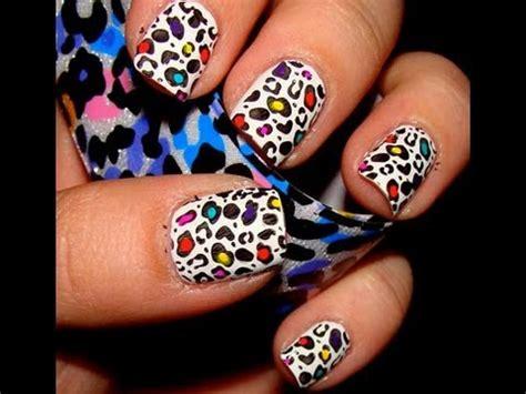 imagenes de uñas decoradas de tigre como hacer u 241 as animal print de leopardo facil youtube