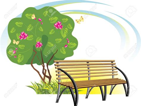 park bench clipart a bench in the park clipart clipground