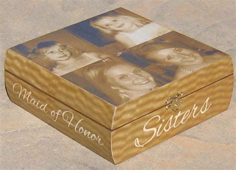 creative bridal shower gift from of honor personalized of honor keepsake box from