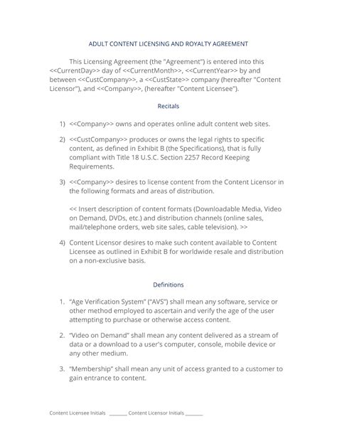 content license agreement template content license agreement