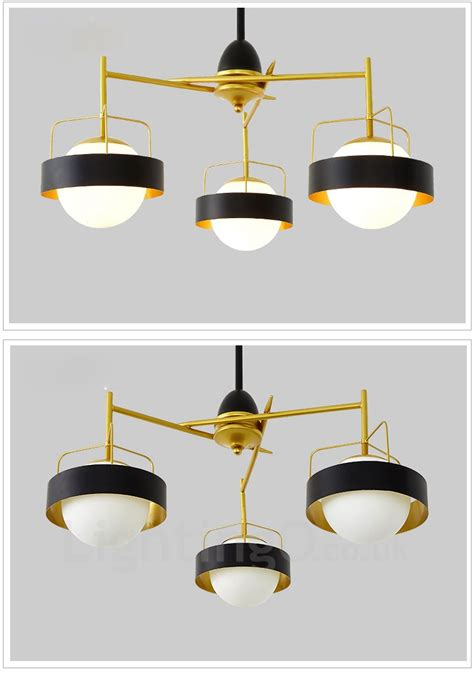 Contemporary Ceiling Lights Uk 3 Light Modern Contemporary Ceiling Lights Copper Plating Chandelier With White Black