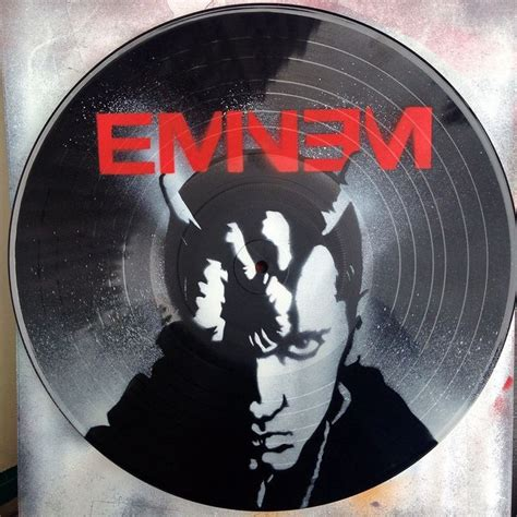 spray painting vinyl records eminem vinyl record spray paint handmade decoration clock