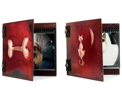 Handmade Albums - handmade copper pet photo albums gift ideas