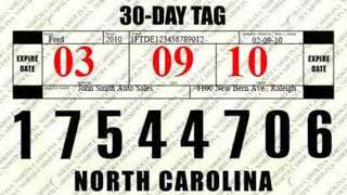 Nc to distribute easy to read 30 day vehicle tags wmbfnews com