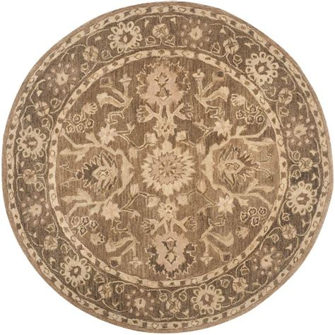 Rounds Rugs Nuloom Eleonora Grey 6 Ft X 6 Ft Area Rug Tajt09e 606r The Home Depot
