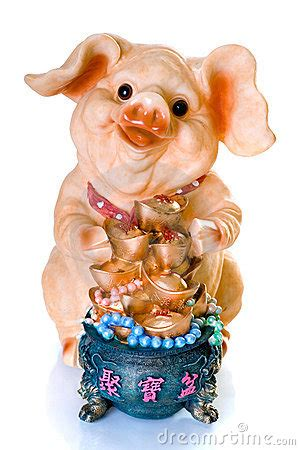 new year of the golden pig ceramic new year pig gift royalty free stock
