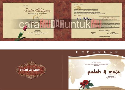 template undangan walimah cdr download template undangan download template undangan pernikahan format cdr relep
