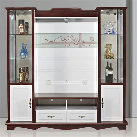 Shx modern corner tv cabinet with showcase tv lcd wooden cabinet designs view tv lcd wooden