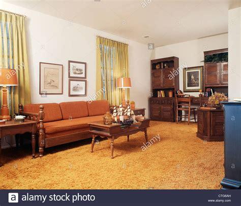 1970s living room 1970s living room with orange shag rug stock photo royalty free image 49528713 alamy