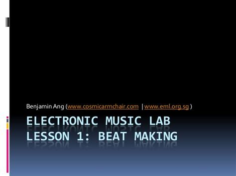 lem e ml by techno live lesson 1 beat in ableton live 9 by the