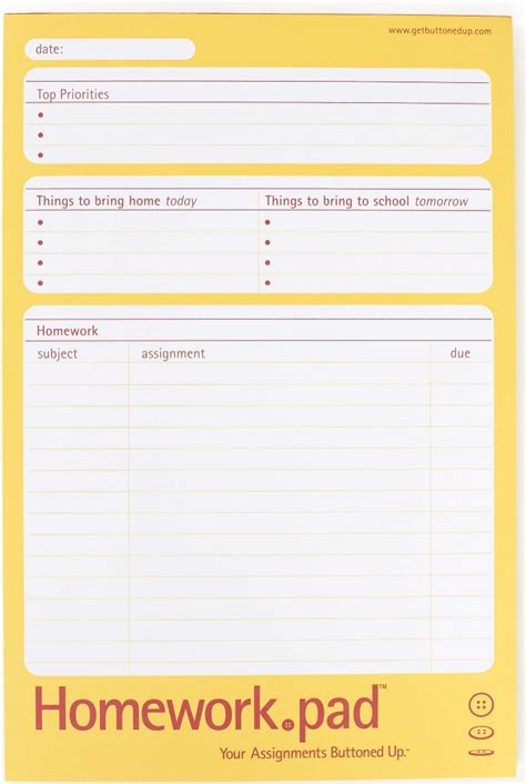 Printable Homework Planner Sheets | 7 best images of printable homework organizer daily