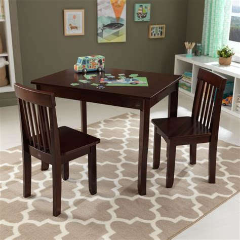 kid craft table avalon table ii chair set espresso kidkraft
