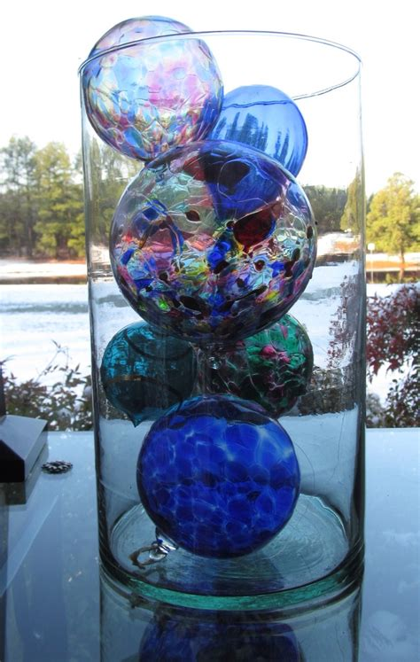 decorative glass balls glass art pinterest