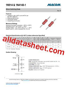 1n914 diode datasheet pdf 1n914 datasheet pdf m a technology solutions inc