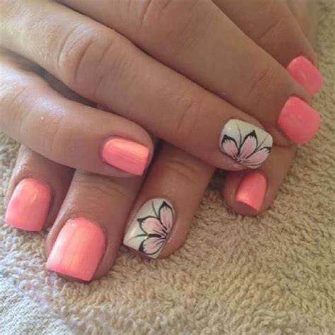 Rire Lip Manicure Pink Brown pink and brown flower nails i wish i could do all these nails nail summer