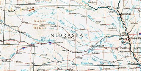 us map nebraska nebraska geography and maps