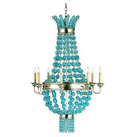 Blue Glass Chandelier Lea Aqua Blue Glass Balls Contemporary 8 Light Chandelier Kathy Kuo Home