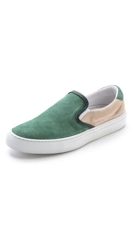 diemme sneakers diemme garda slip on sneakers in green for green bone