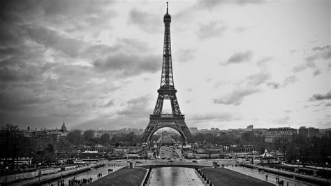 black and white black and white eiffel tower desktop background hd