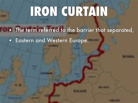 to what does the term iron curtain refer cold war by arshveer mattu