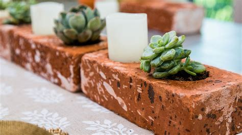How To Build A Brick Planter by How To Make Succulent Brick Planters