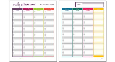 10 Free Weekly Schedule Templates For Excel Savvy Spreadsheets Daily Planner Template Excel 2