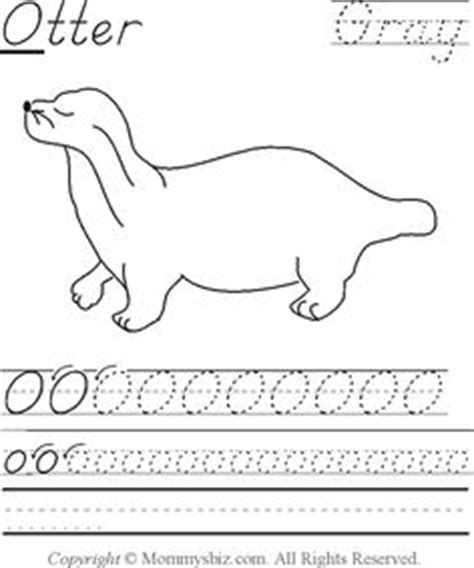 otter coloring pages preschool letter o on pinterest octopus letters and otter