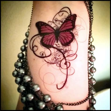 goth tattoos classic butterfly design for sleeve