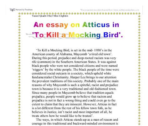 Atticus In To Kill A Mockingbird Essay by Atticus Finch Essay