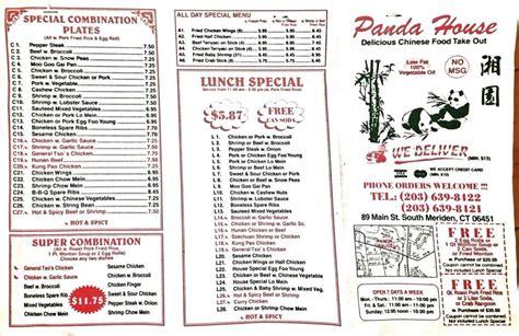 panda house menu panda house chinese meriden ct yelp