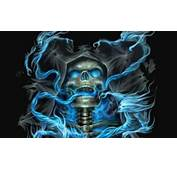 Blue Flame And Skull Wallpaper For Nokia N900 Pictures