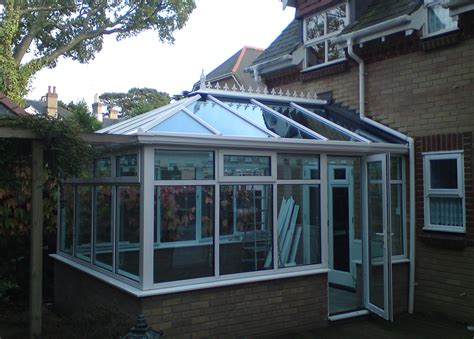 K2 Conservatory Roofs - new k2 hipped edwardian roof with activ blue glass