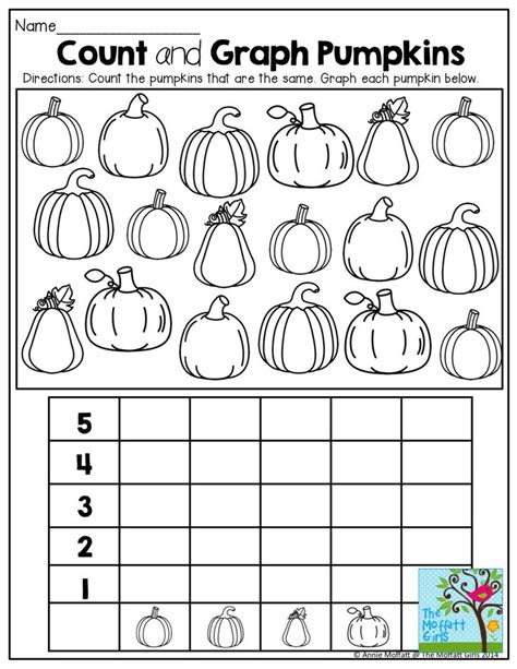 printable graphs for preschoolers 76 best pumpkin math images on pinterest kid halloween