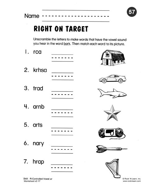 Free Printable Phonics Worksheets