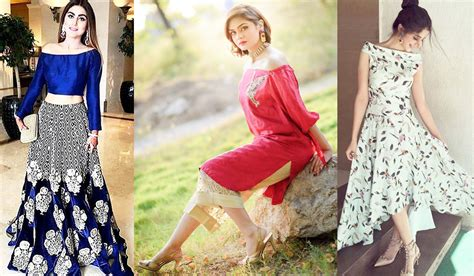 new trends in 2017 new off the shoulder dresses fashion in pakistan 2017