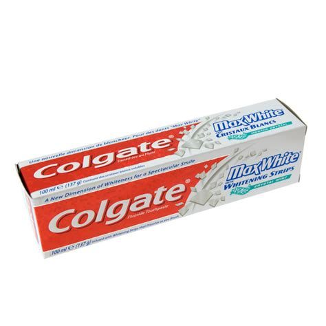 toothpaste whitening b m gt colgate maxwhite with whitening strips toothpaste