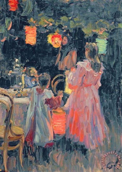 Painting 049 Sle Paper by Ivan Semyonovich Kulikov Lanterns Painting