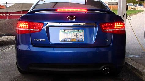 2017 kia forte tail lights kia forte led tail lights youtube