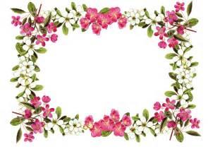 Flower Frame Template by Vintage Flower Frame Border Png Free Digital