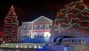 christmas lights at miller brewery milwaukee team penske news keselowski goes back to school for miller lite