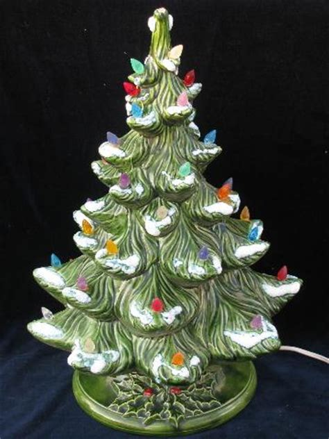 retro vintage ceramic table top christmas tree electric