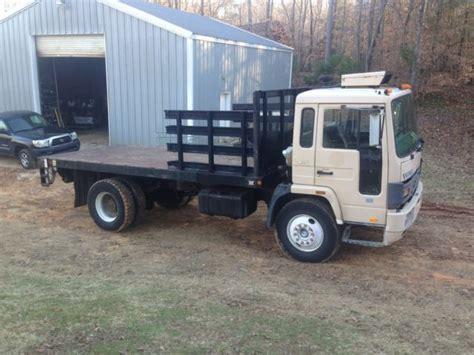 volvo automatic truck for sale 1990 volvo fe6 fe 6 stake body truck with anthony lift
