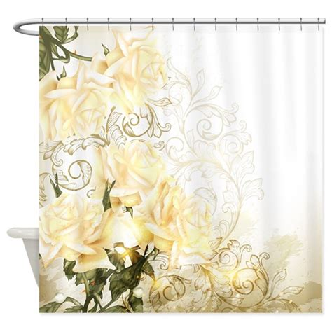 roses curtains artistic yellow roses shower curtain by showercurtainshop