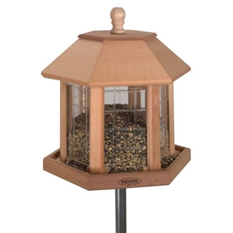 Octagon Bird Feeder New Six Sided Gazebo Bird Feeder Backyard Garden Decor