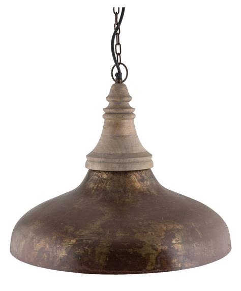 Iron Pendant Light New Rustic Brown Iron Wood Pendant Light Ebay
