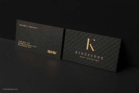 Black Gold Business Card Templates by Triplex Business Cards With Gold Foil Sting Photo 13