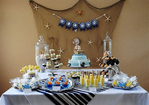 nautical themed decorations for home baby boy shower ideas best baby decoration