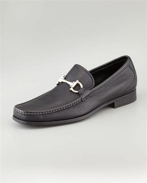 ferragamo magnifico loafer sale lyst ferragamo magnifico leather bit loafer black in